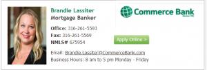 Brandie Lassiter Commerce Bank
